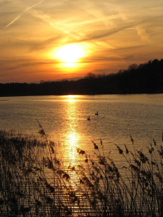 #ZachódSłońca #zalew #niebo