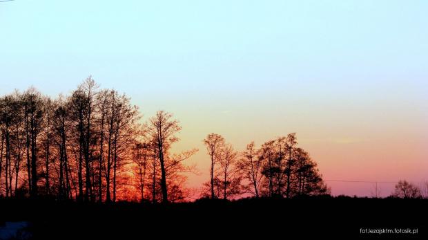 #niebo #zachód #słońca #słońce #chmury #drzewa