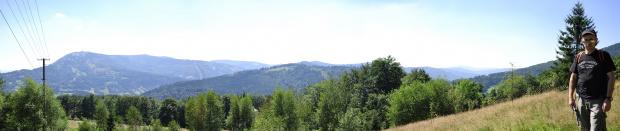 Widok na Skrzyczne #panorama #szczyrk #wycieczka #góry #drzewa #drzewo