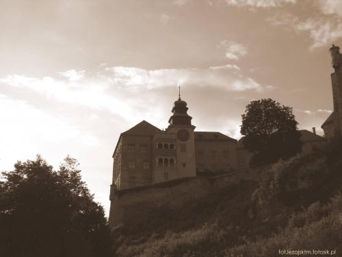 Zamek - Piaskowa Skała. #historia #krajobraz #lezajsktm #PiaskowaSkała #Polska #ruiny #widok #zabytki #zamek #zamki #sepia