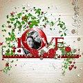 zestaw LOVE by_Mago74 #scrapek #scrapki #walentynki