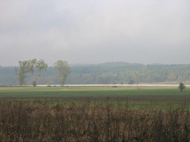 #pola #niebo #mgła #jesień