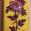 Okładka na notes #HaftKrzyżykowy #kwiat #róża #okładka #notes