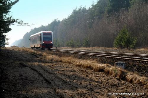 15.03.2011 Ostbahn. SA132-004 jako Regio Krzyż - Piła Główna #kolej #Piła #zima