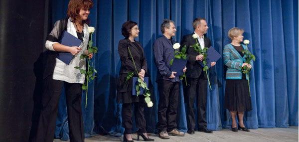 Laureaci Nagrody PrezydentaMiastaŁodzi : AnnaWalczak, AnnaKatarzynaCiszowska, Mariusz Olbiński, Grzegorz Pawlak, BronisławaStelmaszczyk
