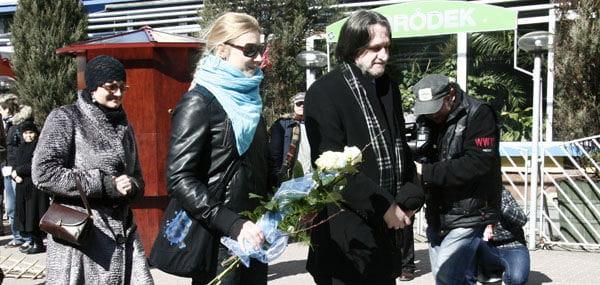 DelegacjaTeatru Nowego z dyrektorem Zdzisławem Jaskułą