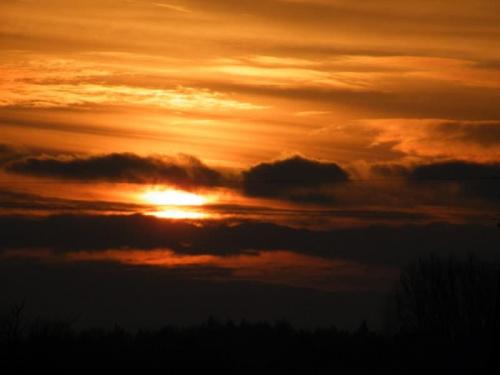 wschód ~ zupełnie inny niż wczoraj #chmury #wschód