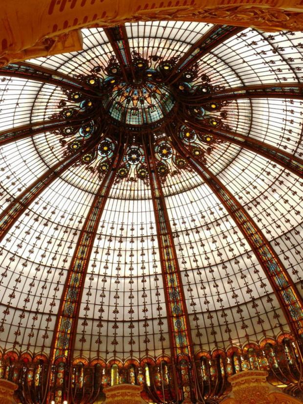 Kopuła w Galerii Lafayette #Paryż