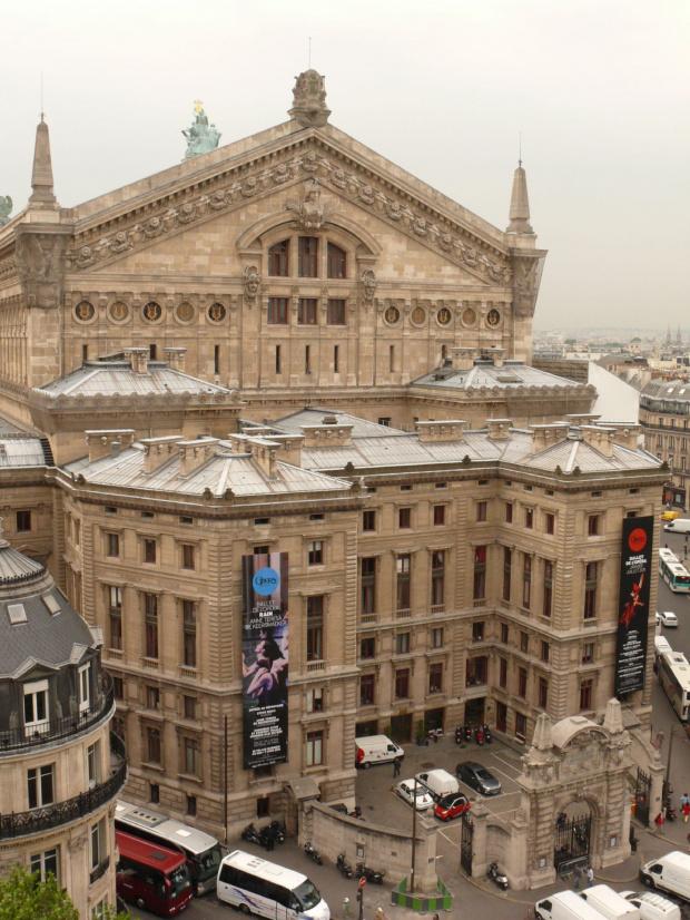 Widok z tarasu Galerii Lafayette na Operę #Paryż