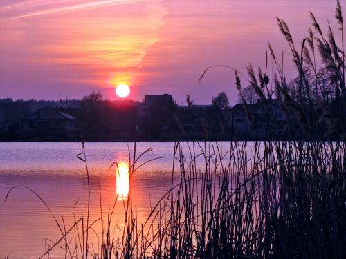 po przeróbce :) #jezioro #ZachódSłońca