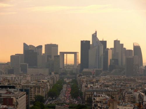 La Defense - widok z Łuku Triumfalnego #Paryż