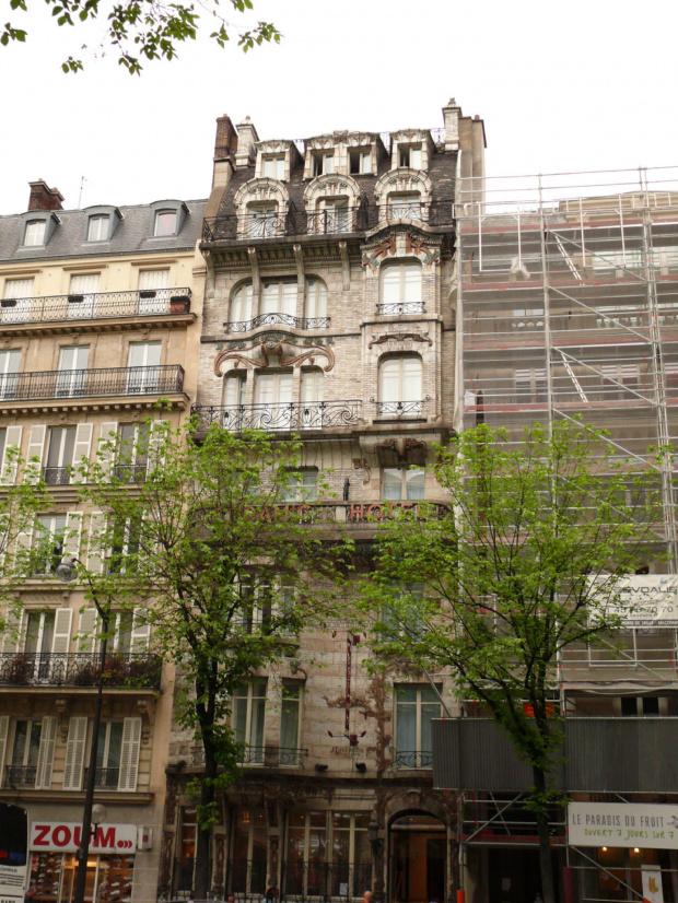 Kamienica secesyjna z 1904 r. której fasadę uznano w 1905 za najpiękniejszą w Paryżu #Paryż