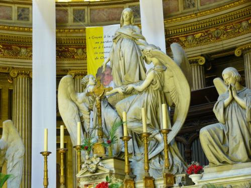 Wniebowzięcie Marii Magdaleny Charlesa Marochetti, ołtarz głowny w La Madeleine #Paryż