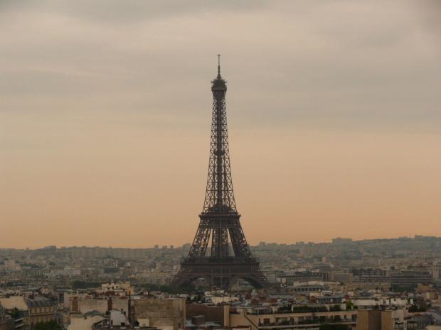 Widok z Arc de Triomphe na Wieżę Eiffla #Paryż