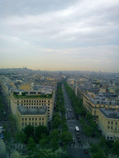 Widok z Łuku Triumfalnego #Paryż
