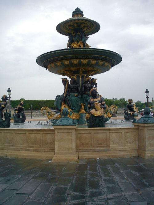 Fontanna na Placu Concorde czyli Zgody #Paryż