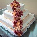 10- 12 kg tortcik weselny kwadratowy #róże #TortWeselny #TortyWeselne