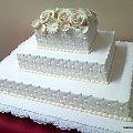 20 kg torcikpikowany #torty #wesele #TortyWeselne #kwiaty #pikowanie #słodkości