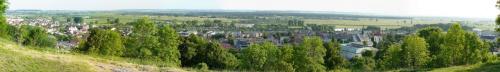 Panorama miasta Pińczów widziana spod kaplicy św. Anny #Pińczów
