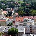 Panorama miasta Bolków widziana z zamku. #Bolków