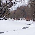 z moich rodzinnych stron ... #Opava #rzeka #zima #śnieg