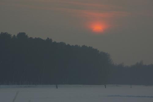 #zima #zalew #ZachódSłońca