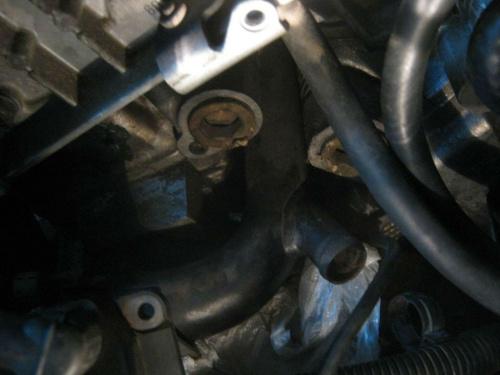 Tył silnika