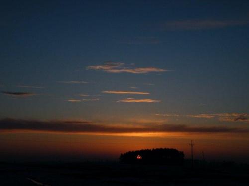 #ChmurySłońceZachód