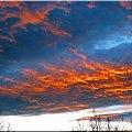 Niesamowity spektakl zachodu - wial silny wiatr i te chmury...:) #ZACHODSLONCA