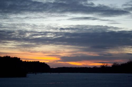 #niebo #ZachódSłońca #zalew