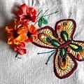 fragment serwety haft płaski #HaftPłaski #HaftWstążeczkowy