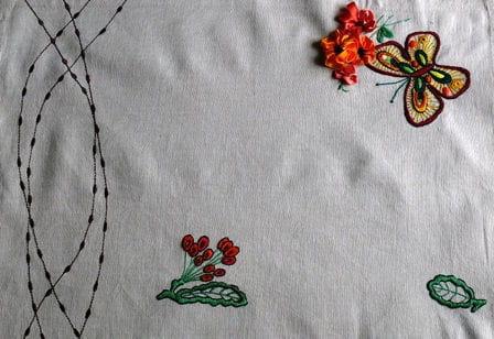 serweta - haft płaski #HaftPłaski #HaftWstążeczkowy