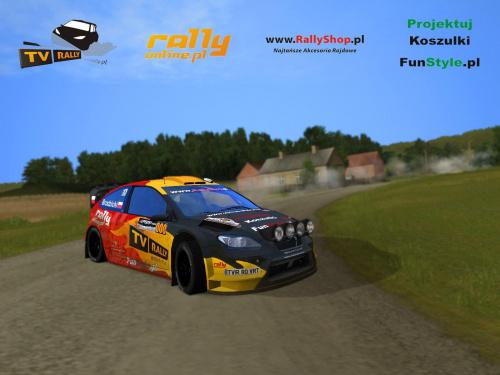 #ford #focus #wrc #rally #world #championship #virtual #team #virtualrallyteam #kuba #brodzicki #screen #game #gra #rbr #richard #burns