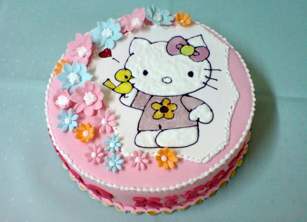 Hello Kitty Hellokitty Kot Tort Urodziny Makowiec Fotosikpl