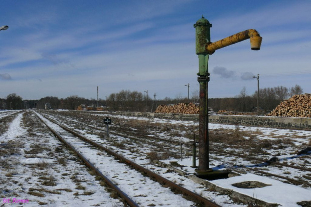 Dworzec i peron PKP w Piszu #Pisz