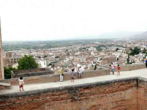 Alhambra - dach Torre de la Vel Alcazaby #Andaluzja