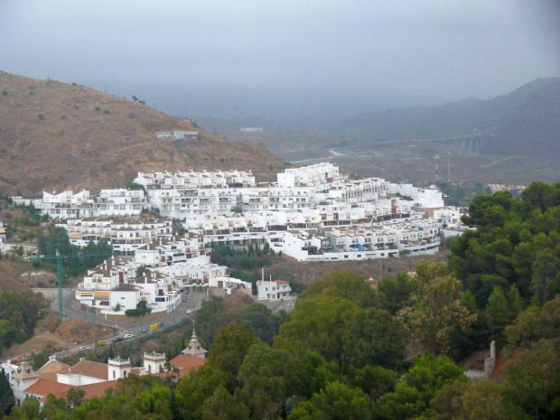 Malaga - widok w drodze na Zamek Gibralfaro #Andaluzja