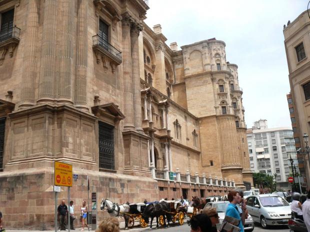 Malaga - Katedra - dolne partie są gotyckie #Andaluzja