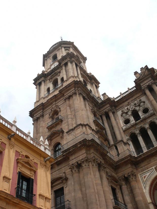 Malaga - Katedra -mieszanina stylów jest bardzo widoczna, z przewagą renesansu, górne partie i fasady prezentują barok. #Andaluzja