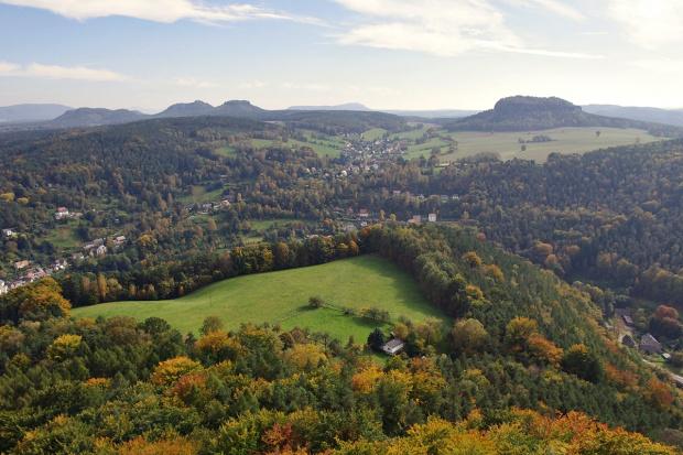 widok z twierdzy Königstein #Niemcy #SzwajcariaSaksońska