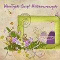 scrapek z zestawu txbubbles-bubblesbabbles.blogspot.com, czcionka- kuba ręczny #scrapek #scrapki #wielkanoc #jajka #pisanki #kwiatki #kwiaty