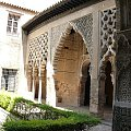 Sewilla - Alkazar - Patio del Yeso - dziedziniec Stiuku #Andaluzja #Sewilla