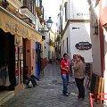 Sewilla - Barrio de Santa Cruz - urokliwa plątanina uliczek #Andaluzja #Sewilla