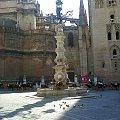 Sewilla - Plaza Virgen de los Reyes - Fontanna zaprojektowana przez Jose Lafita #Andaluzja #Sewilla