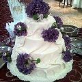Torci zawieziony do Pałacu ślubów 15 kg. biały z Hortensjami #hortensje #tort #wesele #TortyWeselne #ślub