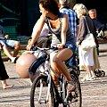 ludzie w biegu, w ruchu #dziewczyna #girl #kobieta #men #mężczyzna #people #women