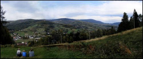 Panorama Brennej. #panaorama #brenna #las #łąka #WyciągNarciarski