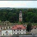 Ruiny zamku , które znajdują się w parku w Strzelcach Opolskich. Widok z wieży ratuszowej, która od niedawna jest dostępna do zwiedzania, #StrzelceOpolskie