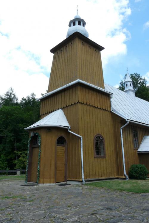 Kamionka Mała - kościół św. Katarzyny #KamionkaMała #KościółDrewniany #SzlakArchitekturyDrewnianej