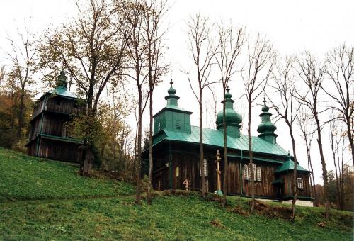 Szczawne - cerkiew pw. Zaśnięcia Matki Bożej #Szczawne #CerkiewDrewniana #SzlakArchitekturyDrewnianej